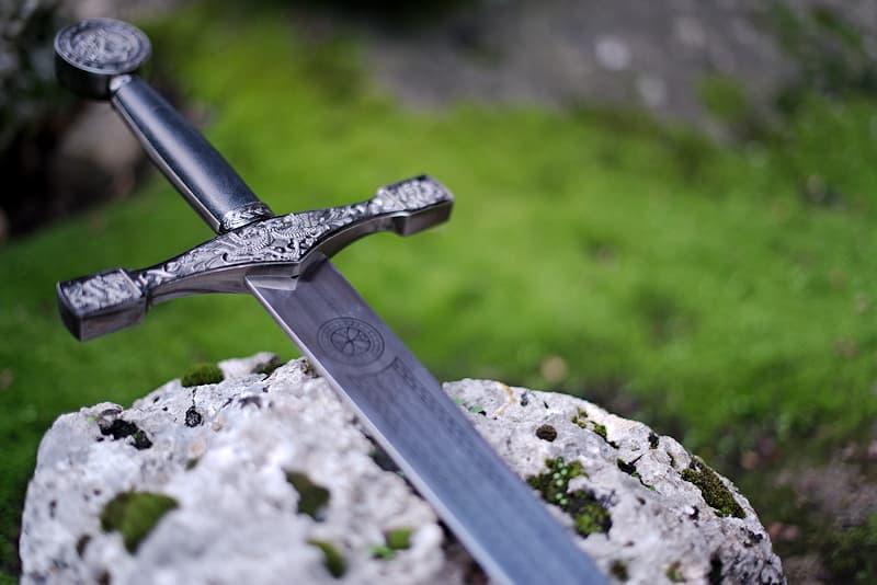 Excalibur, l'Épée du roi Arthur, avec support mural
