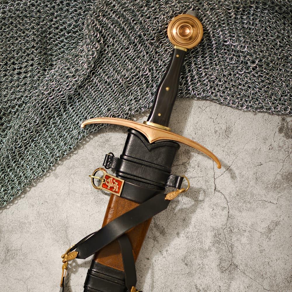 Épée médiévale forgée « Justice »