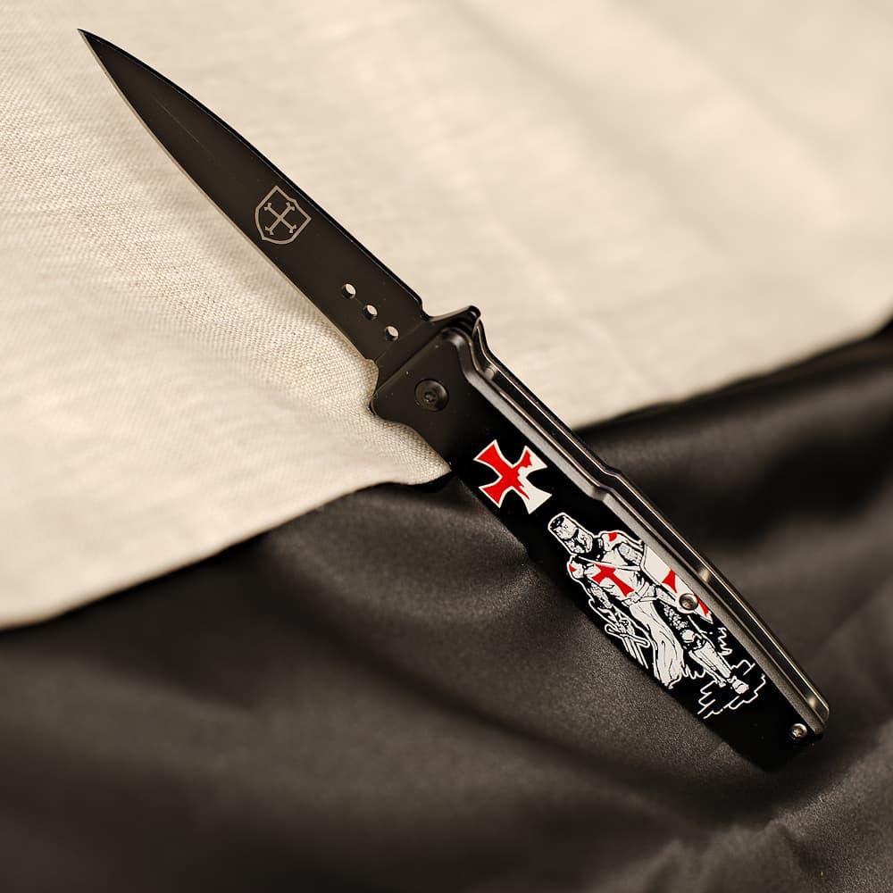 Couteau templier « Non nobis Domine »